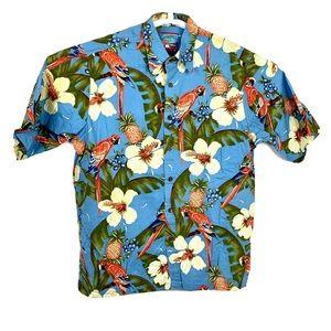 vintage hawaiian shirt Medium Parrot Reyn Spooner